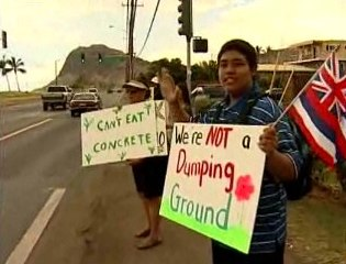 Sign-waving on Farrington Highway