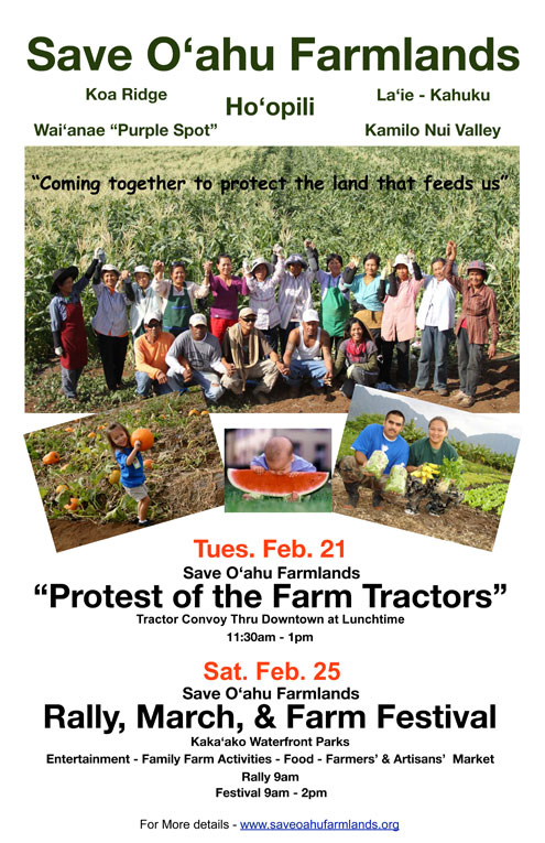 February 21, 2012 - Protest of the Farm Tractors and February 25 Rally, March and Farm Festival.